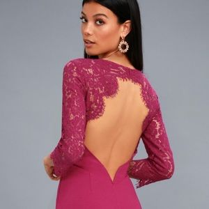 """Lulus """"In the Stars"""" Lace Illusion Backless Mini"""